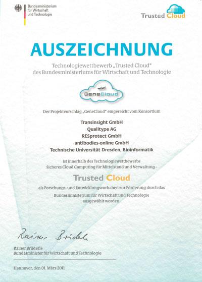 Award Genecloud 2011
